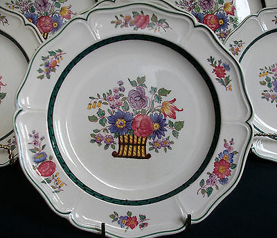 WEDGWOOD FLORAL #A6793- (c.1907-1924)- SALAD PLATE(s)- RARE!!  EXCELLENT!!