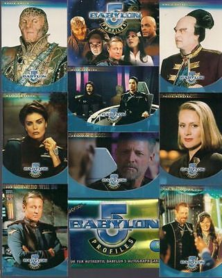Babylon 5 Profiles Skybox 1999 Complete 100 Trading Card Base Set