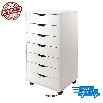 Winsome Halifax Cabinet For Closet/Office, 7 Drawers, White ...