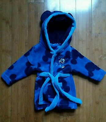 Boys Mickey Mouse dressing gown 6-9 months