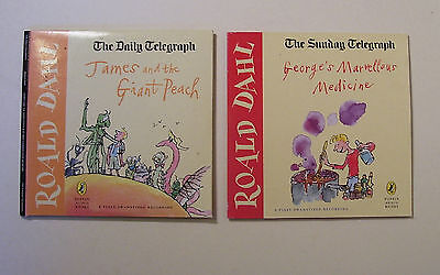 Daily Telegraph CD audio book Roald Dahl x 2 discs dramatised Timothy West & Co.