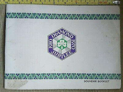 Old Girl Guide Diamond Jubilee Souvenir Booklet from 1970