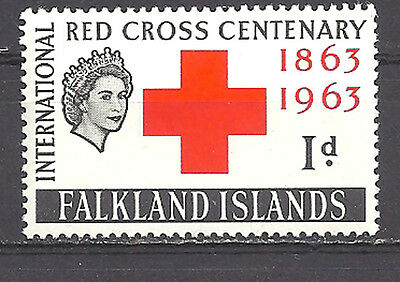 Falkland Islands , 1963 , Red Cross , Stamp ,  Perf , Vlh