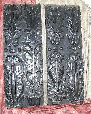 Two Antique Carved Oak Panels - Architectural