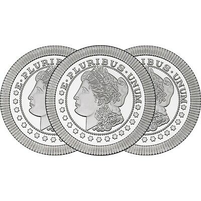 Morgan Dollar Stackables by SilverTowne 1oz .999 Silver Medallion (3pc)