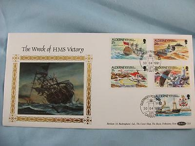 Benham Stamp Cover, Wreck of HMS Victory with Alderney stamp set Limited Edition