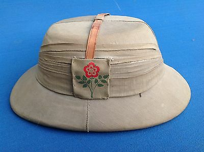 55Th Lancashire Division Tropical Pith Helmet Ww2