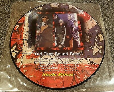 """The Stone Roses live Japan  LP PICTURE DISC vinyl  EX con """"did that sound good"""""""