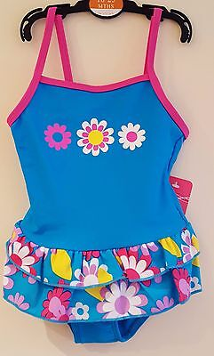Baby Girls Older Girls Floral Swimsuits Swim Wear Costumes 6M To 8 Years