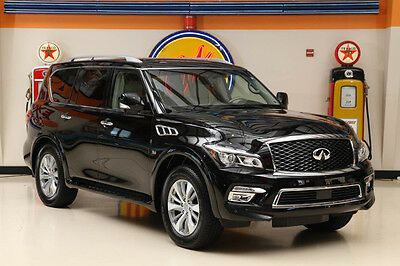 2015 Infiniti QX80 Base Sport Utility 4-Door 2015 Black!