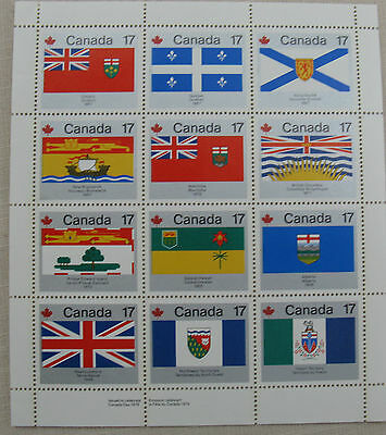 Canada Flags to Commemorate Canada Day 1979. 12 x  17c stamps Mint Sheet