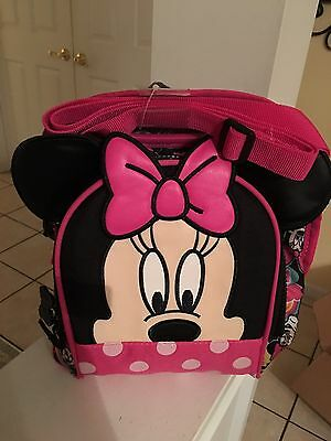 DISNEY Store MINNIE MOUSE LUNCH BOX Tote INSULATED School NWT