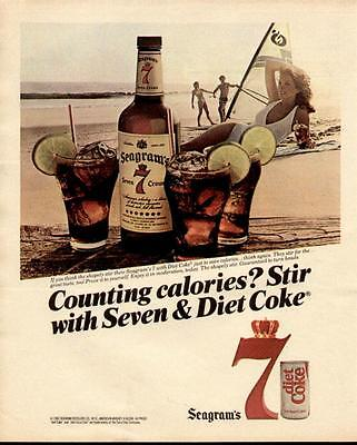 1983 What A Combination Diet Coke With Seagram's 7 Crown Ad
