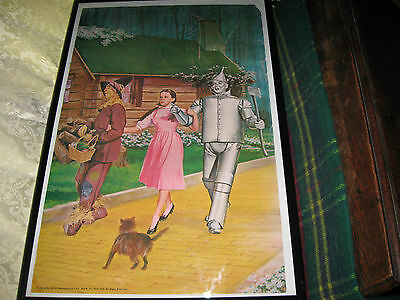 1939 Wizard of Oz Poster Reproduction 1969 Advertising Record Promotion