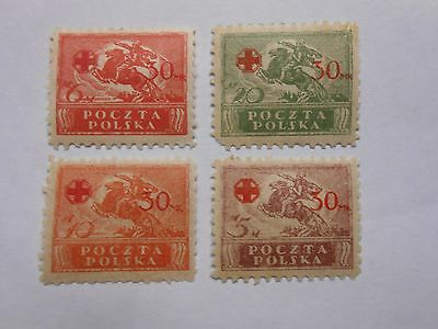 Timbres Pologne N 231  A 234  Neuf Gomme