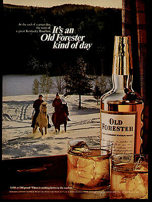 1968 At The End Of A Great Day Old Forester Bourbon Ad