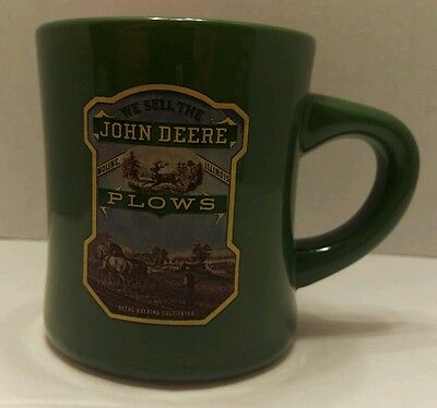 John Deere Plows Moline Illinois Coffee Cup Mug Green