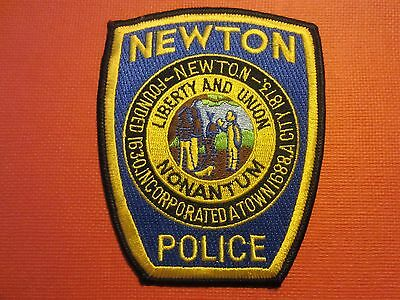 Collectible Massachusetts Police Patch Newton New