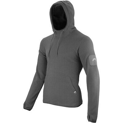 Viper Tactical Mens Hoodie Warm Fleece Jumper Polar Sweater Sport Gym Titanium