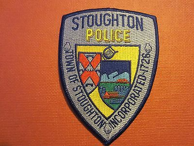 Collectible Massachusetts Police Patch Stoughton New