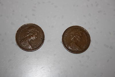 2 Rare 1971 2p 'New Pence' coins