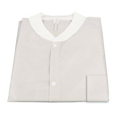 Dynarex 2002 Labjacket with Pockets, Small, White (Pack of 3)