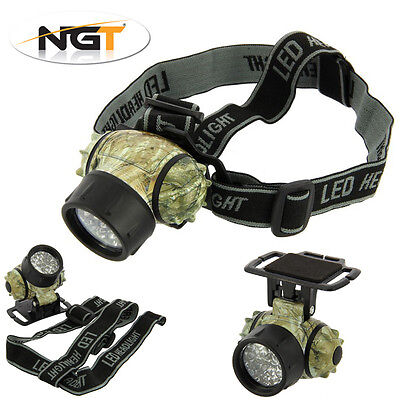 NGT 19 LED Headtorch Night Fishing, Camping – 4 Light Functions + FREE BATTERIES
