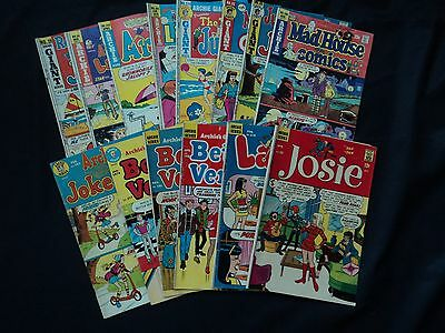 Lot Of 14 Archie Series Comic Books- 12 - 25 Cent Issues- Josie, Laugh, Jughead