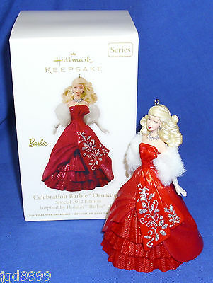 Hallmark Ornament Celebration Barbie #13 2012 Red Gown Special Edition Free Ship