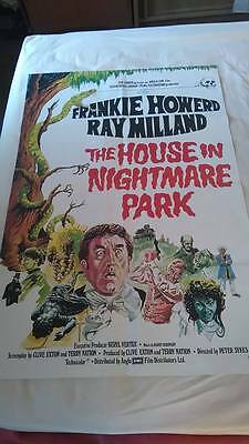 House in Nightmare Park Original UK One Sheet poster 27 x 40