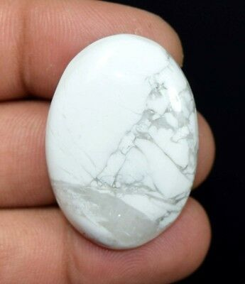 61.10 Cts. 100 % Natural Elegant White Howlite Oval Cabochon Loose Gemstones