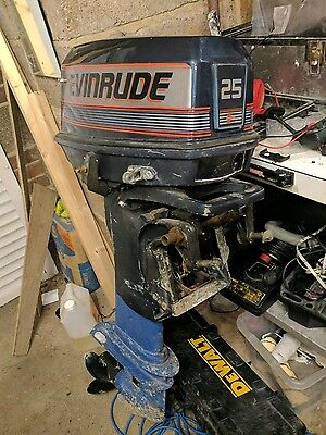 25hp evinrude outboard boat engine