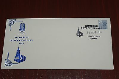 1985 Dumfries Octocentenary 1186 - 1986 Official Cover