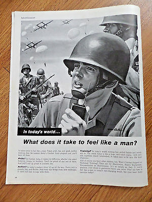 1962 Army Recruiting Ad  Join Modern Army's Combat Arms Program