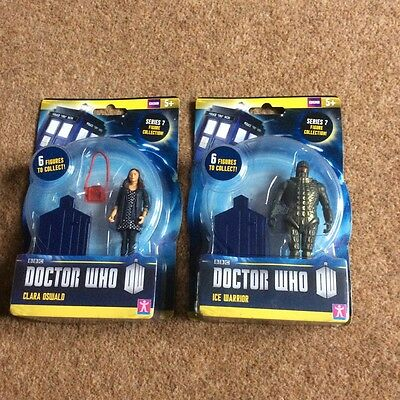 Doctor  Who Series 7 Figures Ice Warrior And Clara Oswald