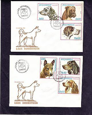 Mozambique 1979 - Dogs FDC ( 2 covers)