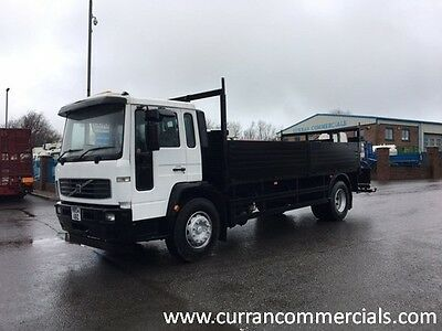 04 Volvo FL 220 4X2 18 Ton 20ft Dropside Flat With Crane Mounts Or Chassie Cab