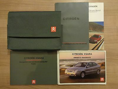 Citroen Xsara MK2 Owners Handbook/Manual and Pack 00-04