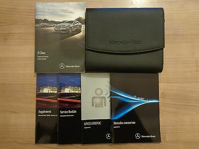 Mercedes Benz E Class Coupe/Cabriolet Owners Handbook/Manual and Pack 13-16