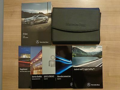Mercedes Benz E Class Coupe Owners Handbook/Manual and Pack 13-16