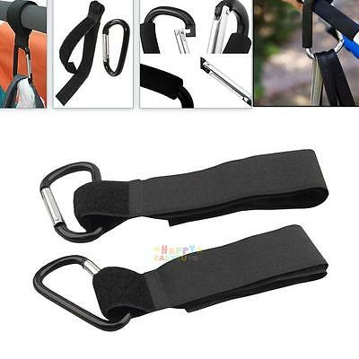 4 x Universal Mummy Buggy Clip Pram Pushchair Stroller Hook Shopping Bag Loop