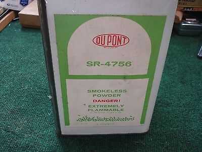 Vintage DUPONT SMOKELESS  POWDER CANISTER TIN  - EMPTY SR-4756 4 pounds