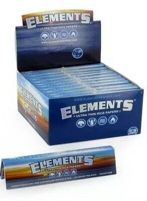 Elements Rolling Paper King Size Slim + Tips Connoisseur Full box of 24