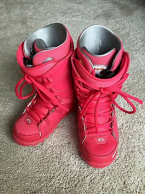 ThirtyTwo Thirty Two women's Lashed snowboard boots UK6 red pink