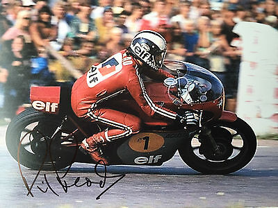 Phil Read hand signed MV Agusta 10x8 picture- World Champion