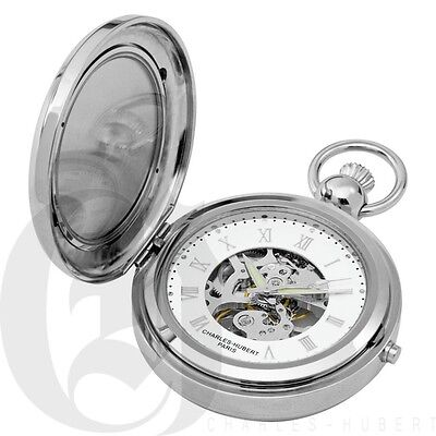 Charles Hubert Hunter Case Picture Frame Mechanical Pocket Watch - 3850