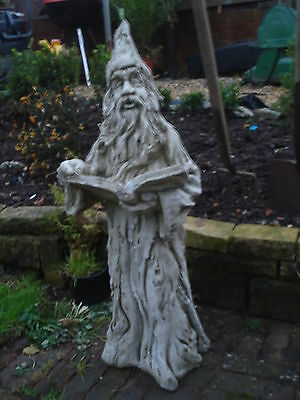 Wizard   Garden Ornament  Stone Cast Statue Hand Made