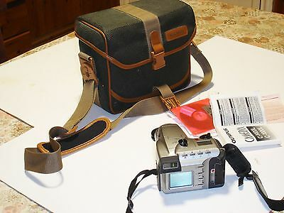 vintage Miranda camera case & Olympus  C1000L  Camedia camera  - working order.