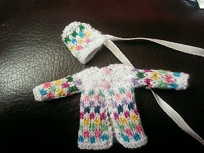 Hand knitted miniature outfit (dolls house)