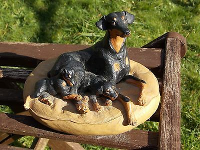 """WOW Collectable """"Heredities"""" J. Spouse Doberman Pinscher with puppies sculpture"""